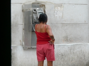 Cuban Phonebooth Lady